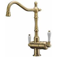 Смеситель для кухни с подключением фильтрованной воды Zorg ZR 326 YF 50 Bronze