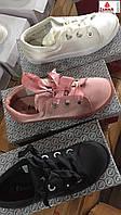 Женские атласные кеды с атласной шнуровкой оптом Размеры 36-41
