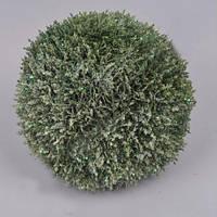 Шар хвоя в блестках 28 см зелень искусственная