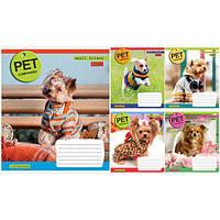 """Тетрадь 18 листов/клетка 760512 """"Pet companion"""", 25 шт. в упаковке (Y)"""