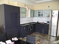 Кухня антрацит глянец, фото 1