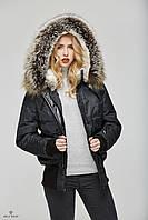 Модная женская куртка-бомбер К-48ех., фото 1
