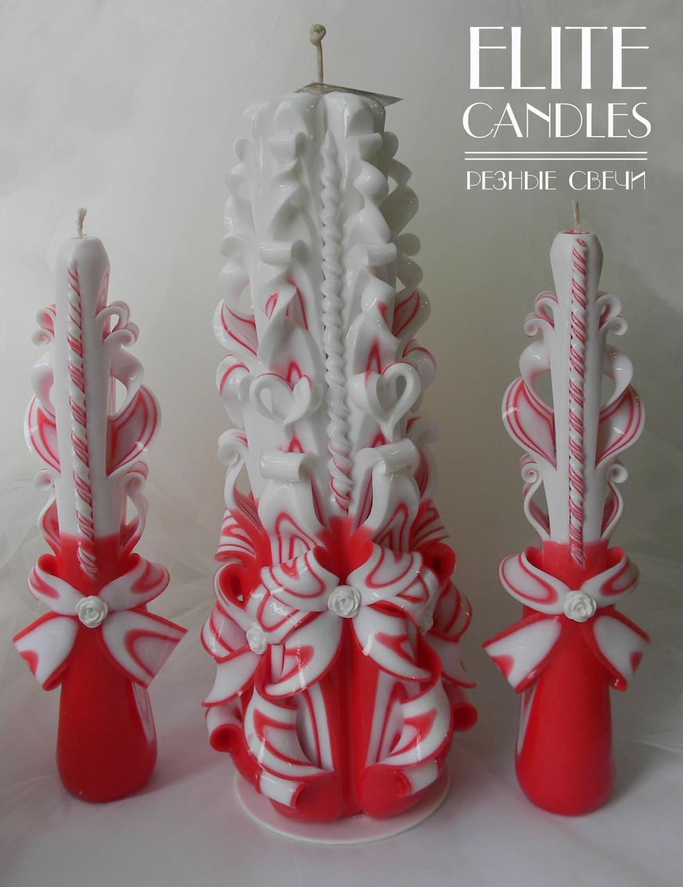 Набор свечей Семейный Очаг в красном цвете