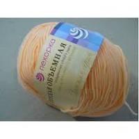 Нитки  для ручного вязания, пряжа, Детская Объемная Персик (микрофибра)