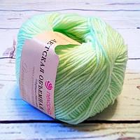 Нитки  для ручного вязания, пряжа, Детская Объемная Новый Горох (микрофибра)