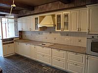 Кухня ясень бежевый патина, фото 1