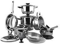 Наборы посуды, кастрюли, сковороды,сотейники