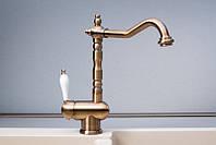Смеситель для кухни Fabiano FKM 37 Brass-Antique