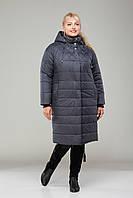 Пальто женское зимнее М - 361 графит