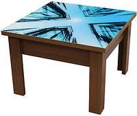 Журнальный стол(прозрачное стекло с изображением УФ печать)