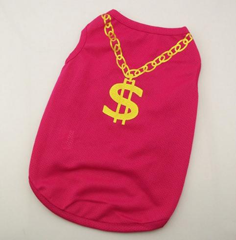 Модная футболка для собак мелких пород красная