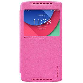 Чехол книжка для Lenovo X3 Lite A7010 боковой с окошком Розовый