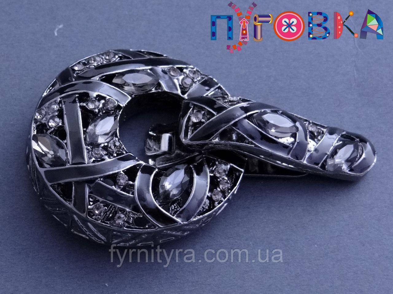 Клипса шубная (шубный крючек) А, 496, black