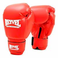 Перчатки боксерские Reyvel винил 14 oz красные