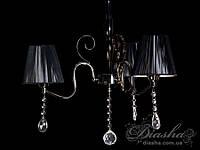 Современная классическая люстра  черный хром с абажурами 6139/3