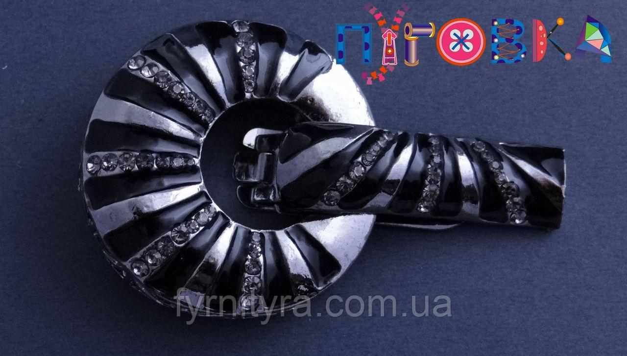 Клипса шубная (шубный крючек) А, 501, black