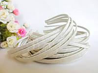 Обруч металлический обмотанный лентой, КРЕМОВЫЙ, 0,6 см