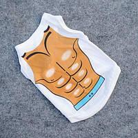 Модная футболка для маленьких собак Мачо