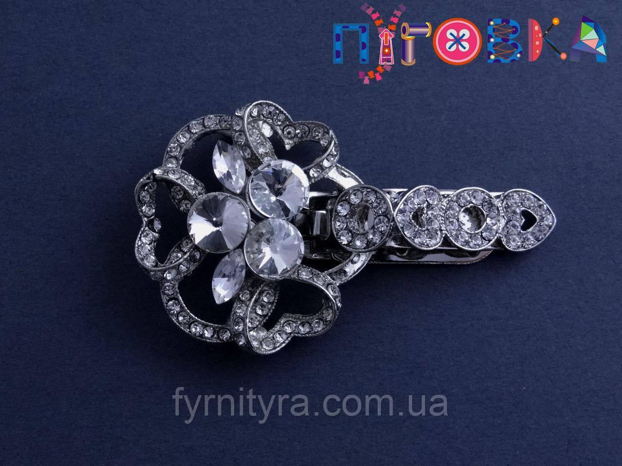 Клипса шубная (шубный крючек) А, 505, silver