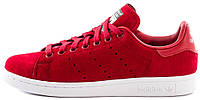 Женские кроссовки Adidas Stan Smith Trainers Power Red White (Адидас Стэн Смит) красные с белым