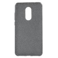 Чехол накладка для Xiaomi Redmi Note 4X силиконовый 3-в-1, Fashion Case GLITTER, Черный