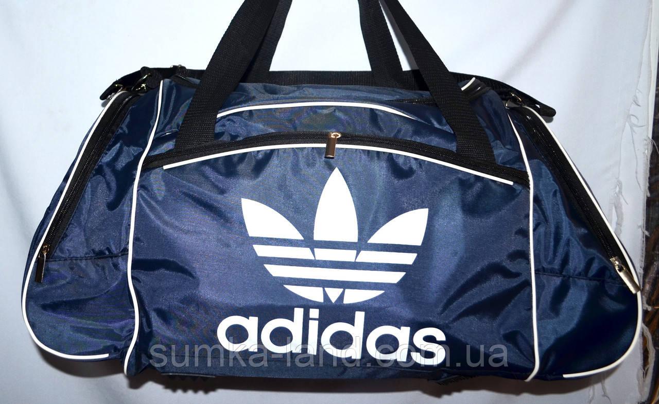 2fe809b558d9 Спортивная дорожная сумка Адидас из плащевки 57*28 (синяя): продажа ...