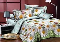 """Постельное бельё для сна, двуспальное 180*220, ткань ранфорс """"Нежное лето""""."""