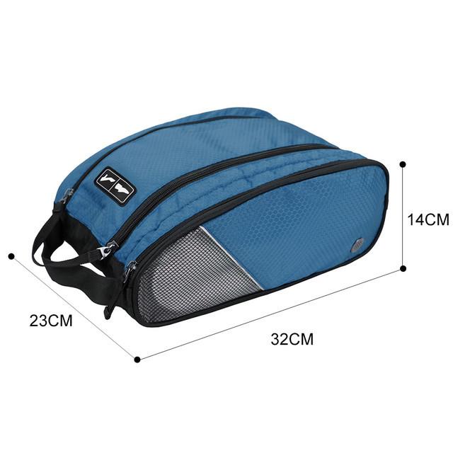 Размеры синей сумки-органайзера для обуви