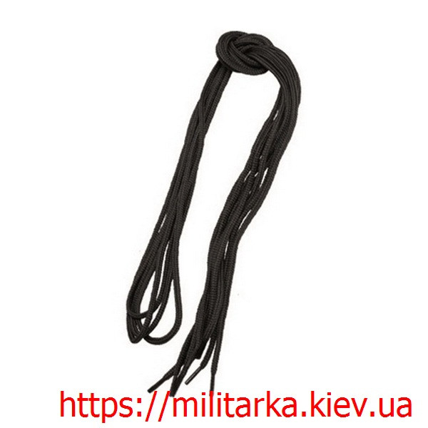 Шнурки Милтек 140 см черные