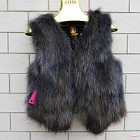 Женская меховая жилетка. Натуральный мех лисы. Модель 63111.