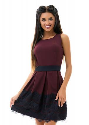 Е7195 Платье пояс\кружево  44,46,48, фото 2