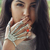 Модное Шикарное украшение скелет рука Skeleton