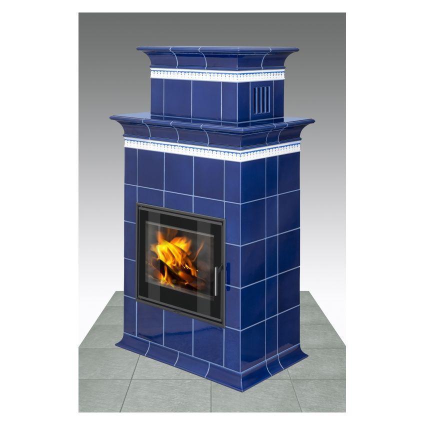 Водяная печь на дровах длительного горения Hein Baracca 1N TV (кафельная печка)