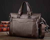 Мужская кожаная сумка. Модель 61208, фото 2