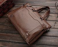 Мужская кожаная сумка. Модель 61208, фото 4