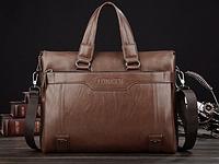 Мужская кожаная сумка. Модель 61208, фото 3