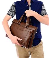 Мужская кожаная сумка. Модель 61208, фото 6