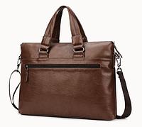 Мужская кожаная сумка. Модель 61208, фото 8