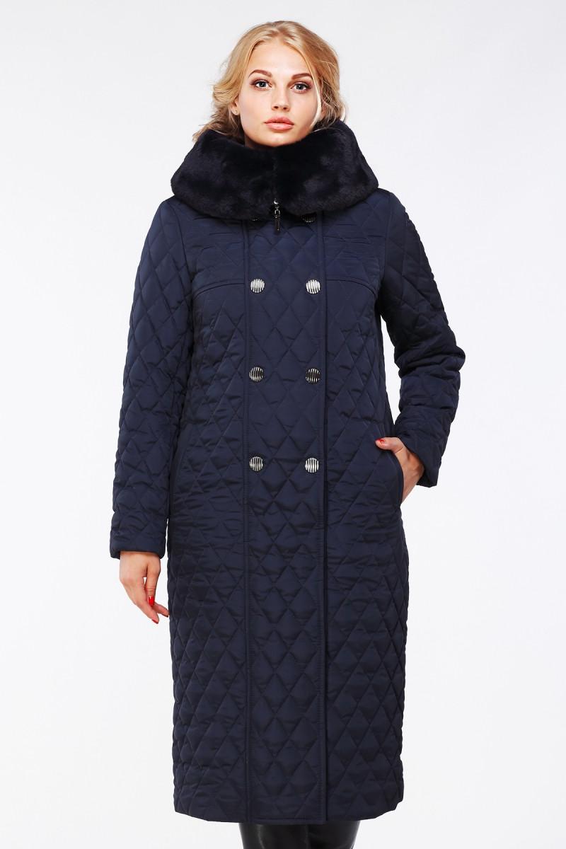 """Длинное стеганое пальто """"Дорис"""" до 60 р"""