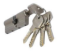 PALADII циліндровий механізм латунний з вставкою 60мм (30*30) 5 гібридних ключа сатен, фото 1