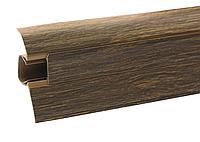 Плинтус напольный ПВХ 54 мм Дуб Лион
