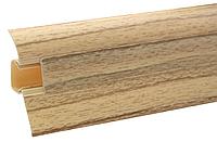 Плинтус напольный ПВХ 54 мм Клен
