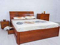 Кровать двуспальная Марита Люкс с ящиками
