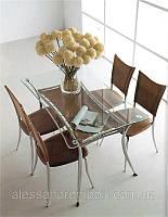 Стол стеклянный В2058, коричневый или желтый цвет, Китай.