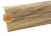 Плинтус напольный ПВХ 54 мм Дуб сицилийский