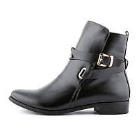 Ботинки женские завышенные черные Beauty girls на маленьком каблуке, Черный, 39