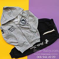 Спортивный костюм для мальчика с капюшеном р 5-8  п-ль Турция