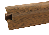 Плинтус напольный ПВХ 54 мм Дуб янтарный