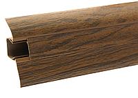 Плинтус напольный ПВХ 54 мм Орех