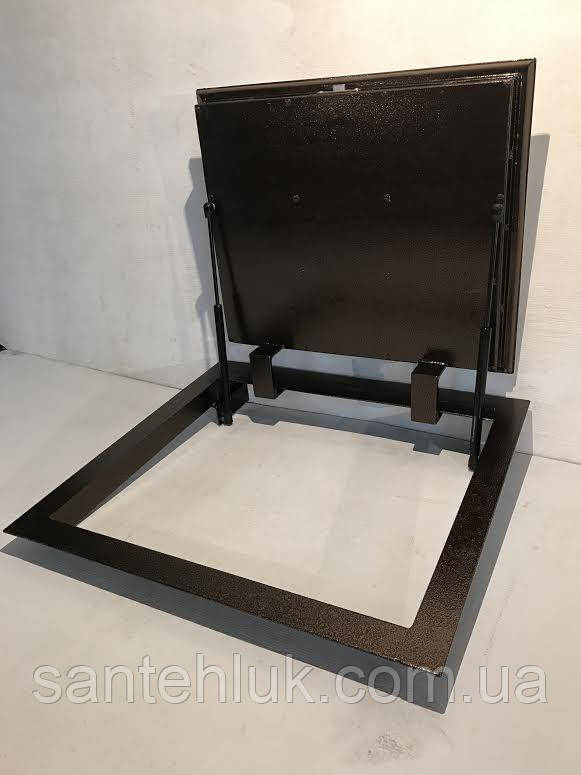 Люк в погреб герметичный утепленный 700*600. Напольный люк в пол, подвал на газовых амортизаторах.